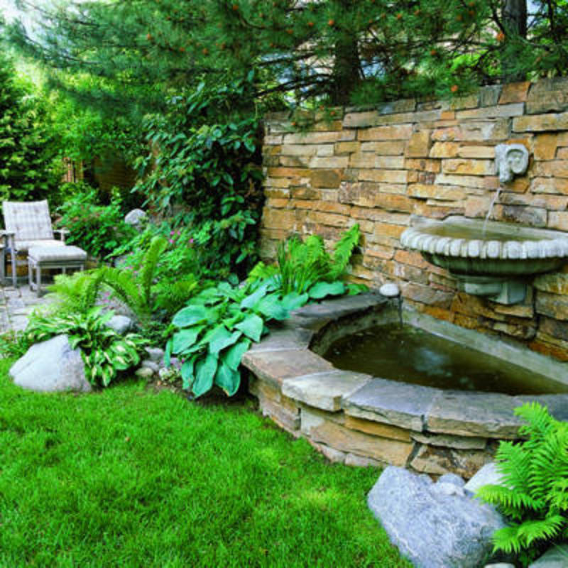 Garden Fountain - Garden Services - Illinois